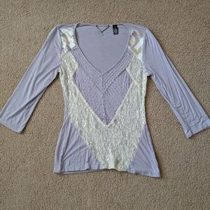 BKE embellished lace too size S